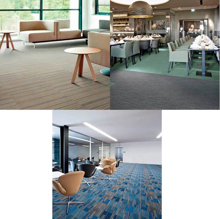 Ejemplo de pavimento textil